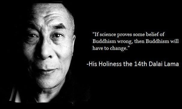 If science proves some belief of Buddhism wrong, then Buddhism will have to change. Dalai Lama