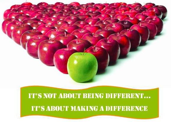 Its not about being different it's about making a difference