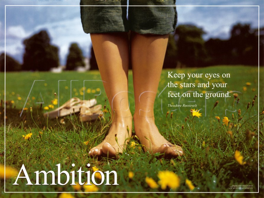 Keep your eyes on the stars, and your feet on the ground. Ambition Theodore Roosevelt