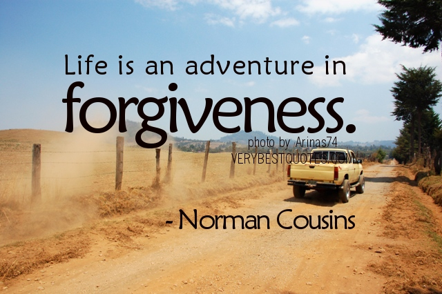 Life is an adventure in forgiveness - Norman Cousins