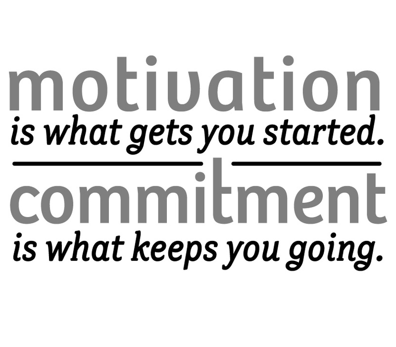 Motivation is what gets you started. Habit is what keeps you going