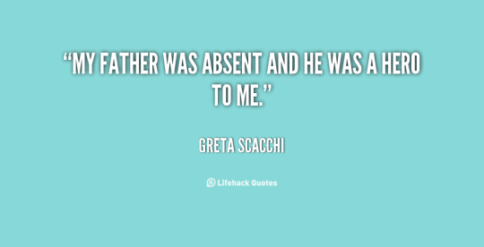 My father was absent and he was a hero to me. Greta Scacchi