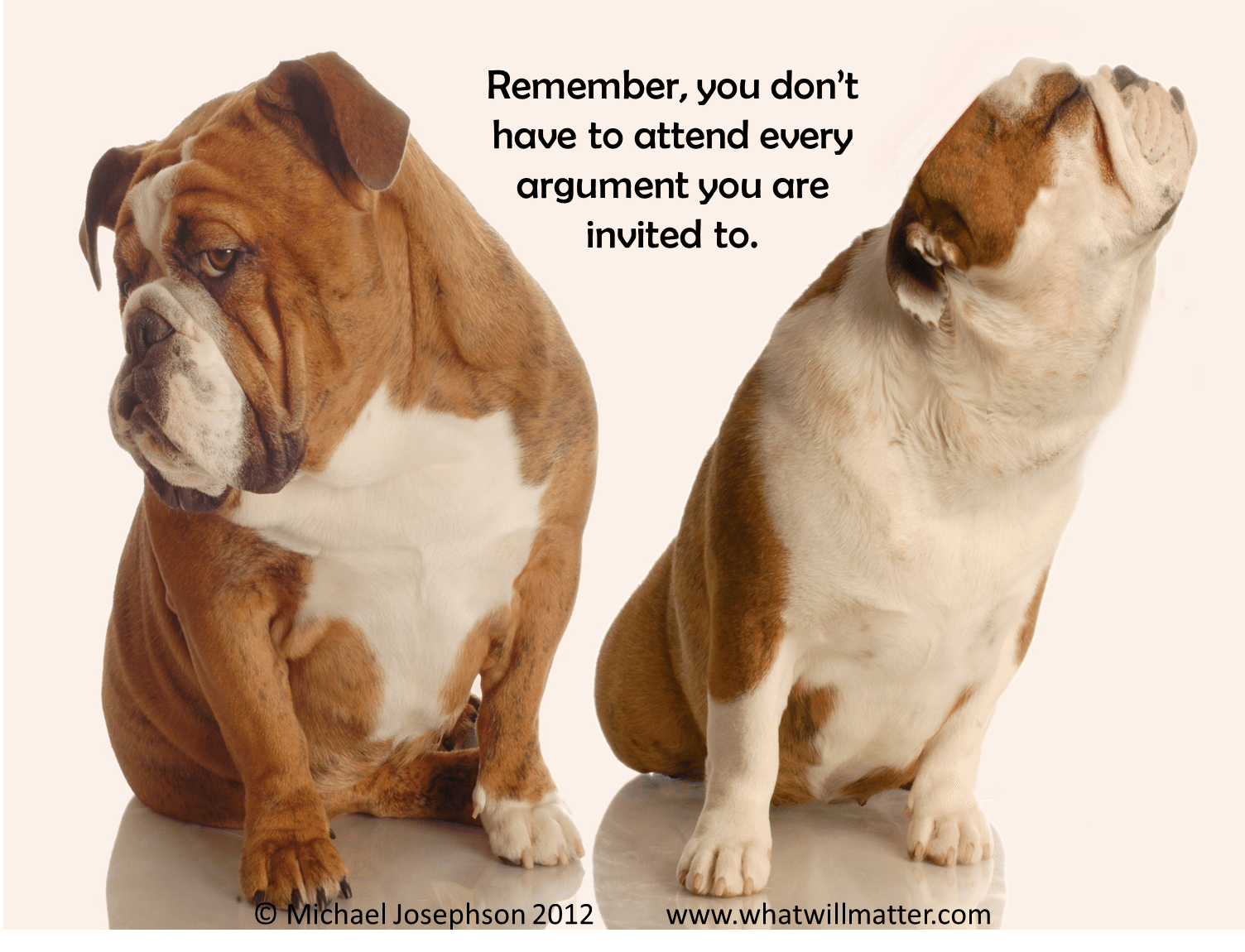Remember you don't have to attend every argument you are invited to.