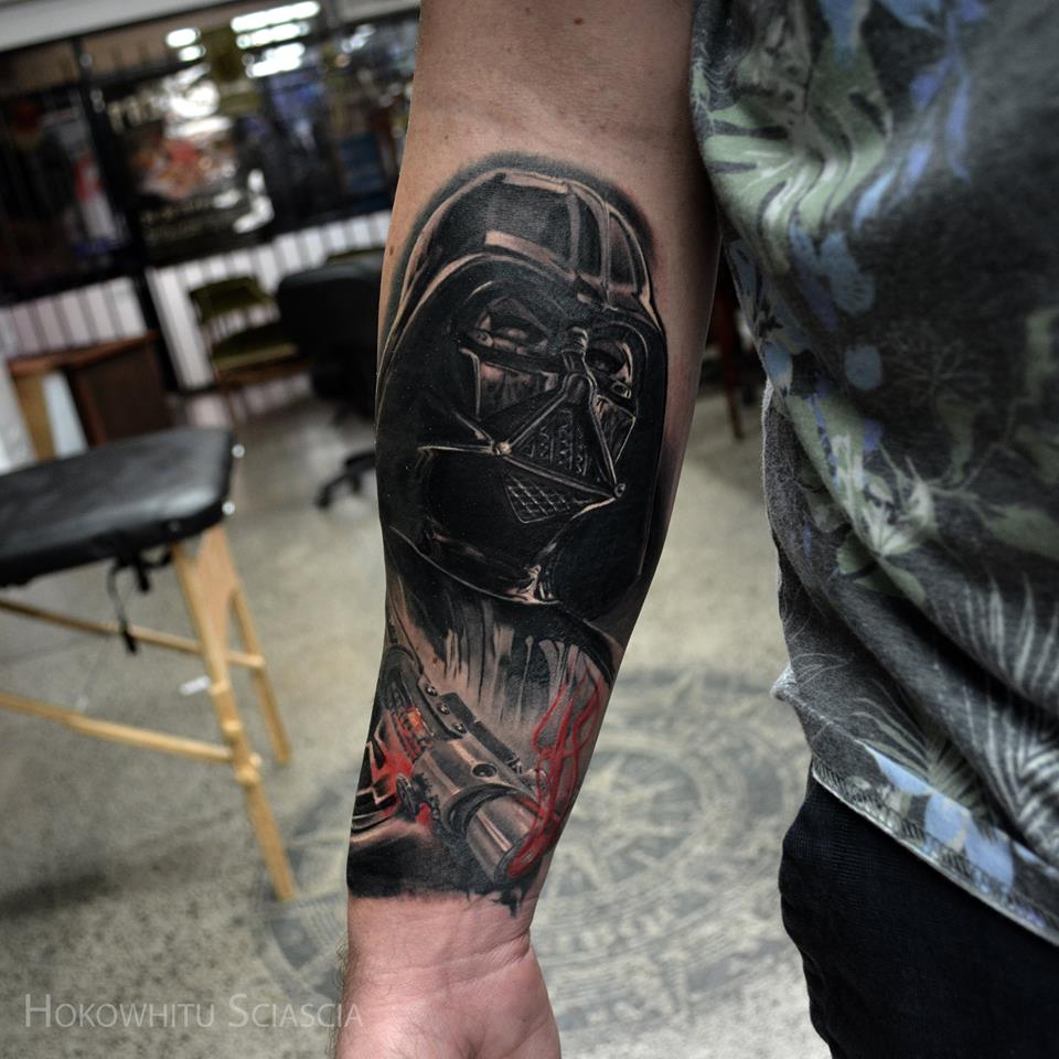 Star Wars Darth Vader Tattoo On Right Forearm By Hokowhitu Sciascia