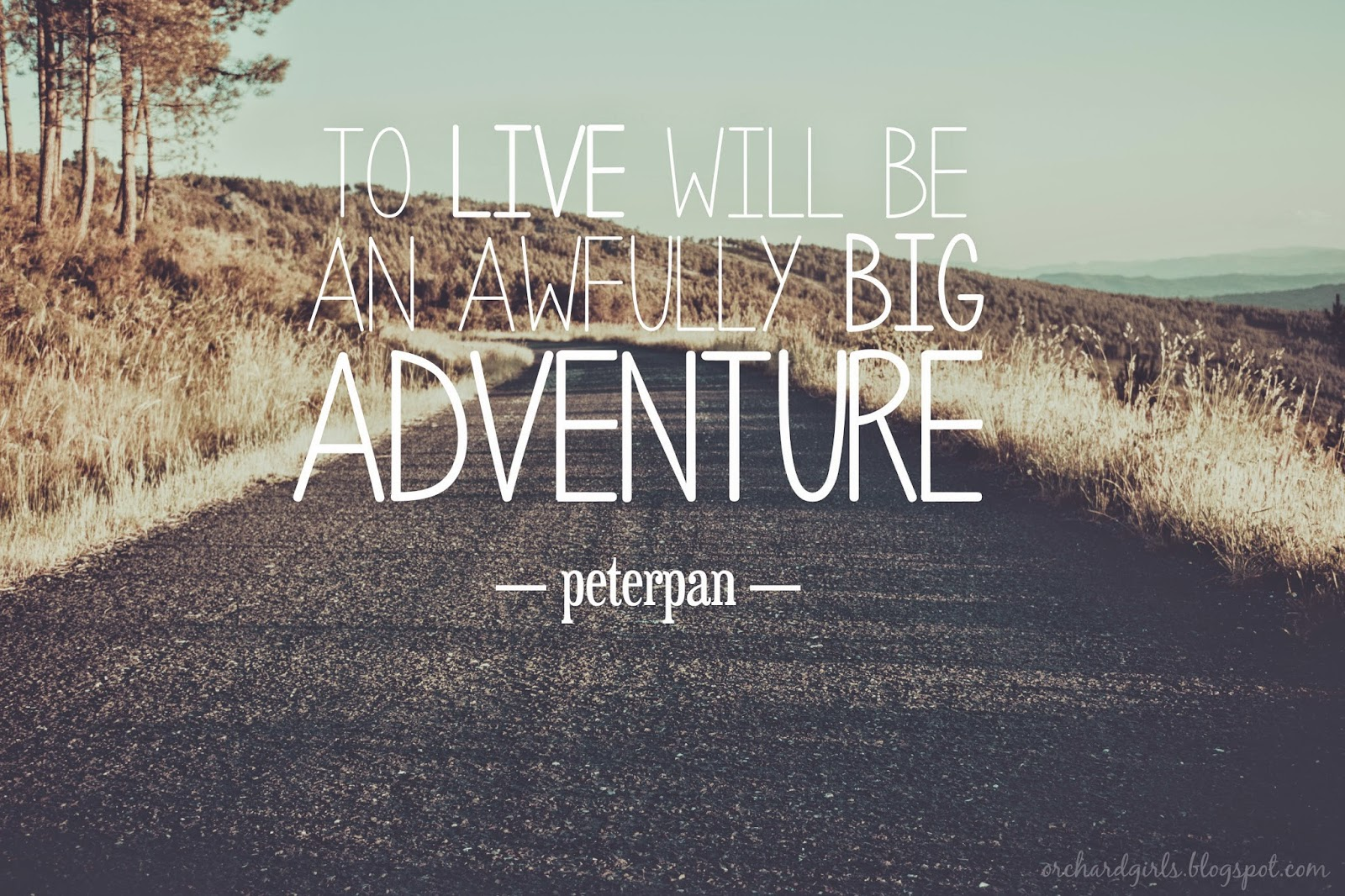 To live will be an awfully big adventure - Peterpan