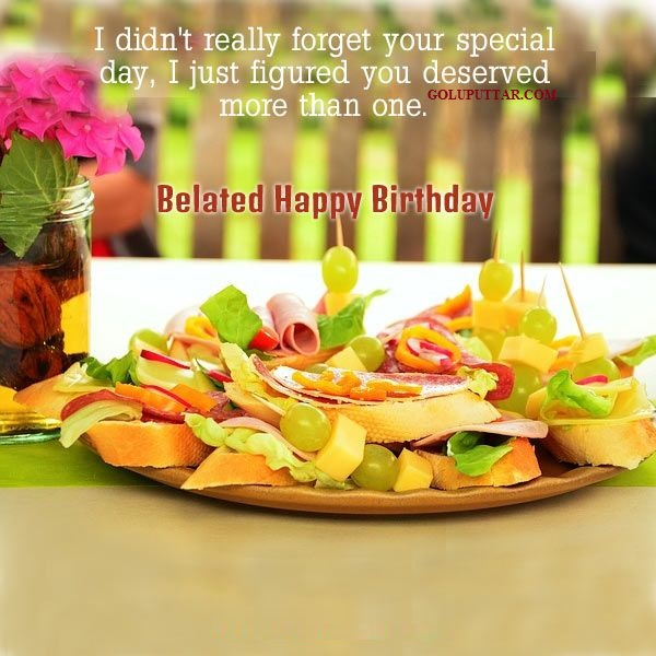belated birthday wishes - 99947