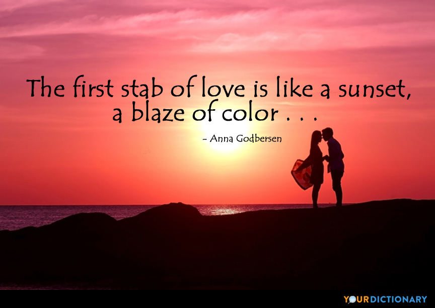 he first stab of love is like a sunset, a blaze of colo. Anna Godbersen