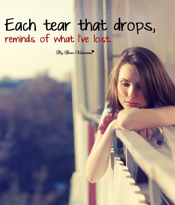 Fabulous sad love quotes and messages for boyfriend about teary eyes