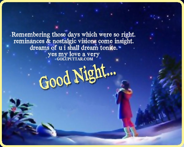 good night quote with star night - 79879