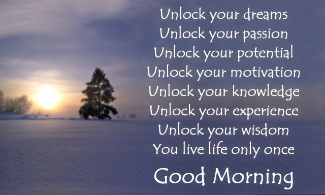 motivationalgood morning SMS -007445466