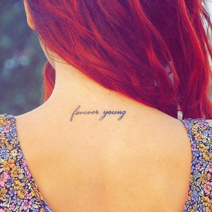 Amaze small tattoo on neck for young girls