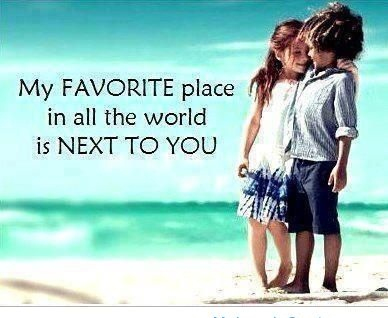 My Favorite Place In All The World Is Next To You-Cute Love Quote