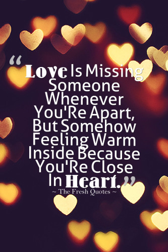 Amazing miss you quotes and sayings for her