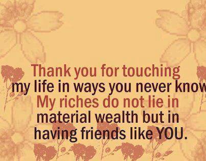 Amazing thank you quotes and proverbs for lovely friends