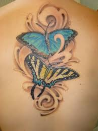 Awfull Butterfly tattoo on back for women