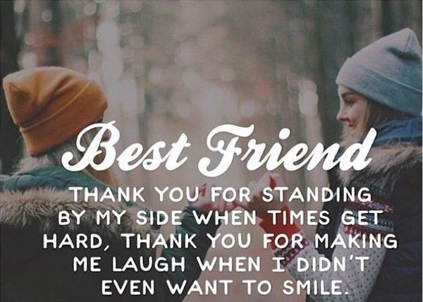 Best thank you quotes and sayings for best friends
