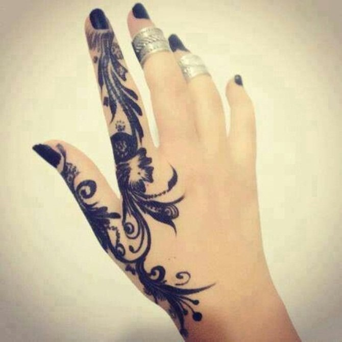 Fabulous small tattoo on finger for fab girls