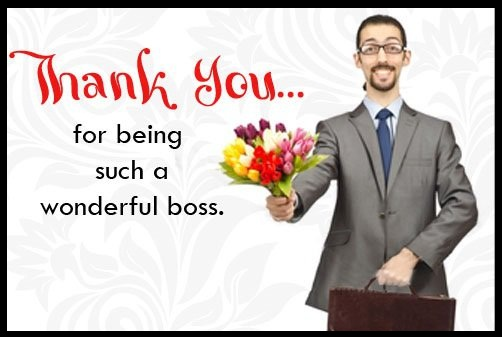 Fabulous thank you messages and quotes for boss