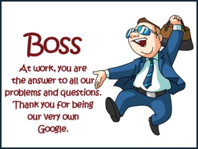 Fabulous thank you quotes and messages for fab boss