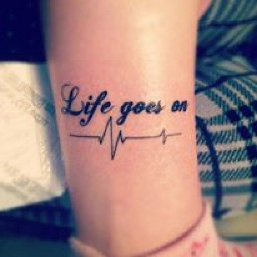 Fantastic life tattoo on wrist