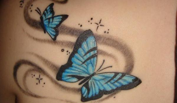Free colored butterfly tattoo for her stunning look