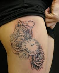 Incredible royal clock tattoo on rib for her