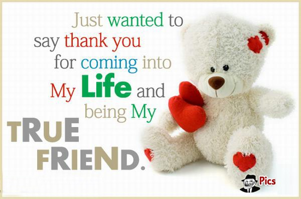 Nice thank you quotes and sayings for amazing friends