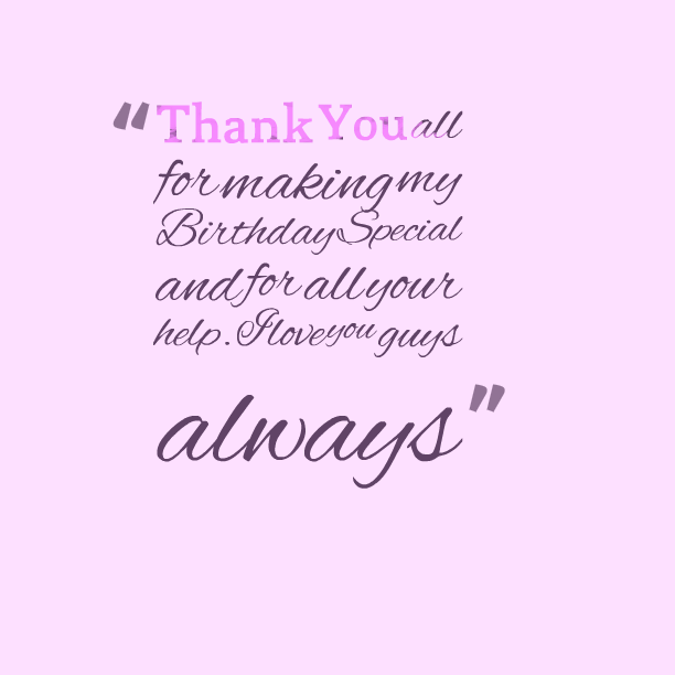 Special thank you quotes and sayings for special one's