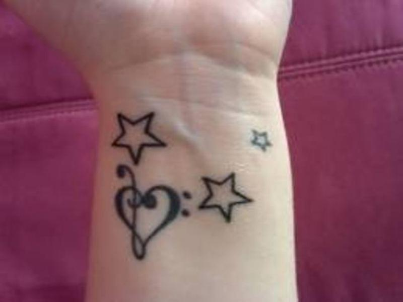 Latest Fashion of Star Tattoo Designs