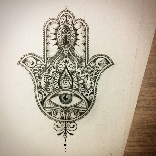 23 @ hamsa tattoo on ribs