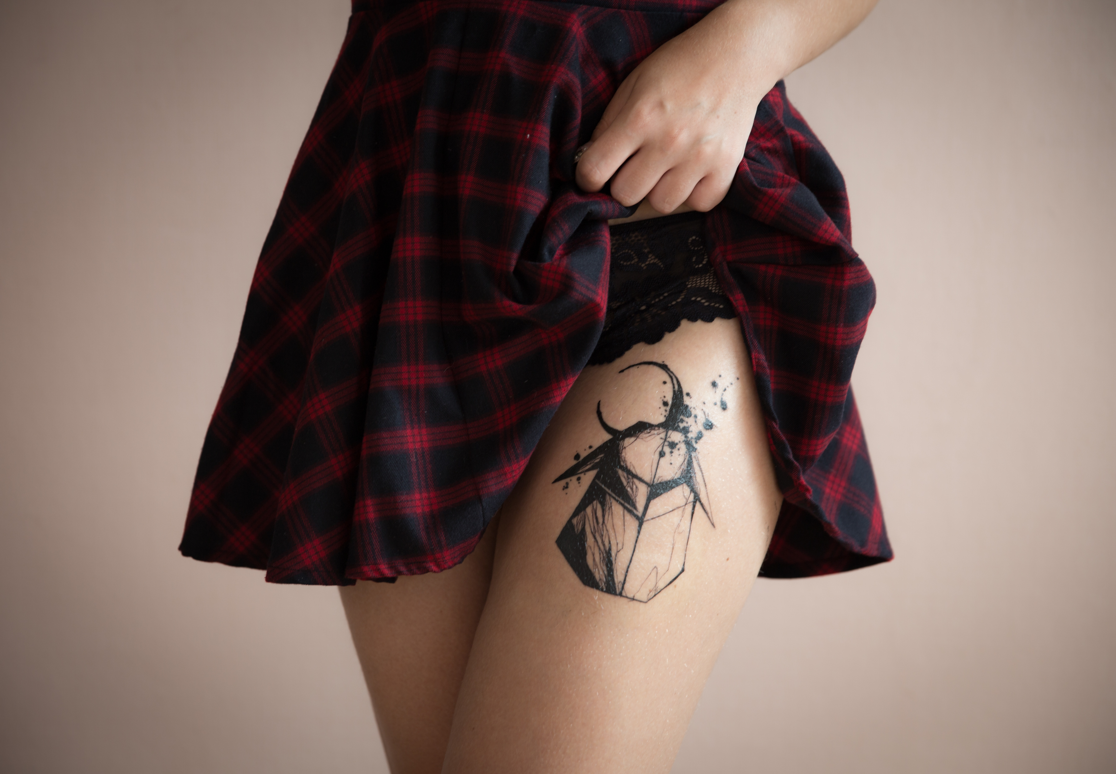 Amazing rabbit tattoo on thigh hot collection