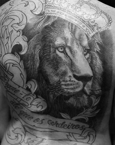 Aouth african full back lion tattooo design