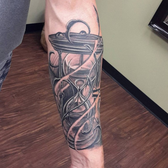 Awesome hourglass tattoo cool colorful ideas
