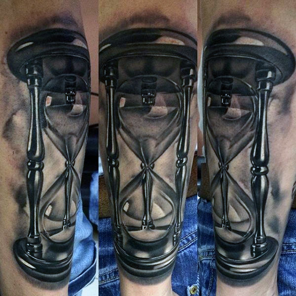 Awesome hourglass tattoo for boys