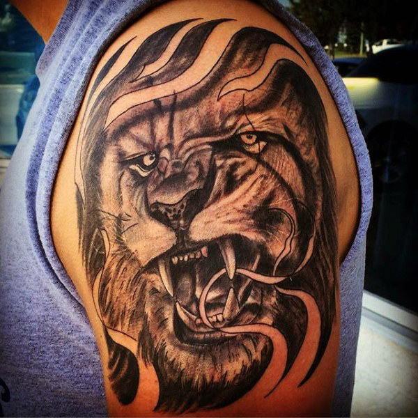 Awful arm lion tattoo designs for arm