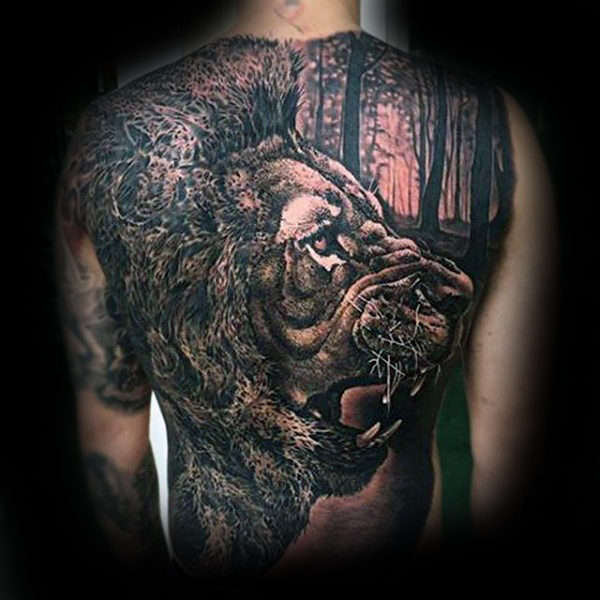 Best lion tattoo by artist
