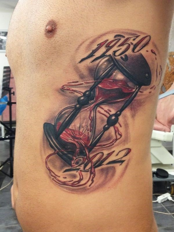 Creative hourglass tattoo hot ideas