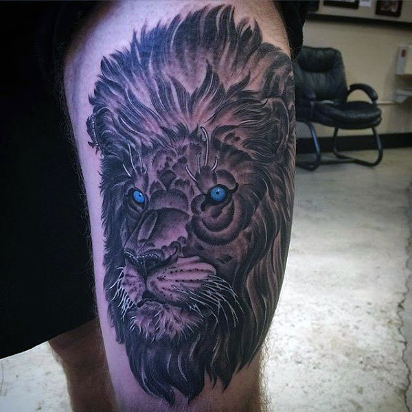 Famous lion tattoo design by artist