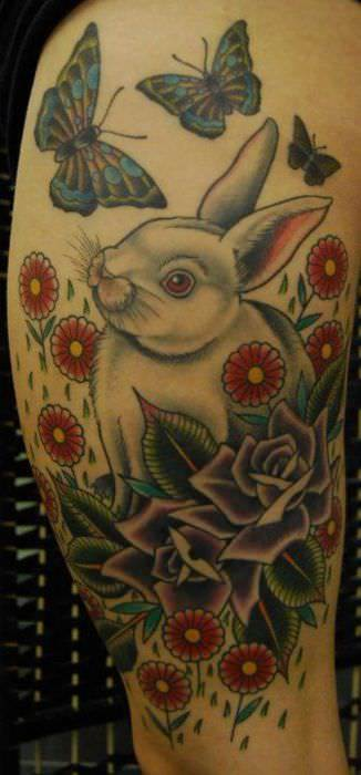 Famous rabbit tattoo designs diary