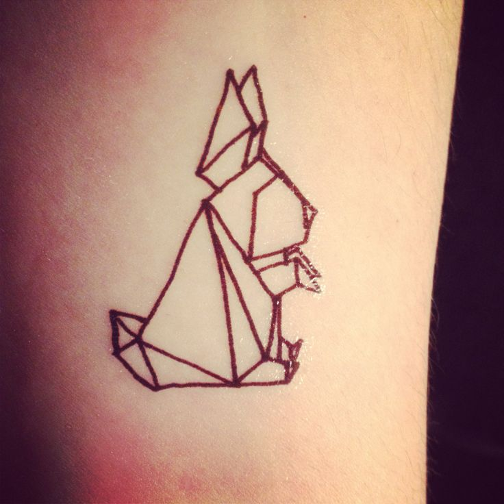 Fantastic geometrical rabbit tattoo design & idea