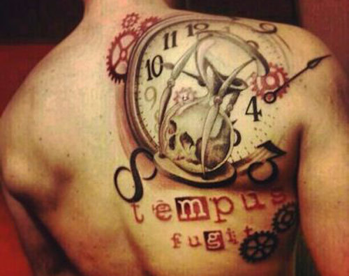 Fantastic hourglass tattoo cool colorful ideas