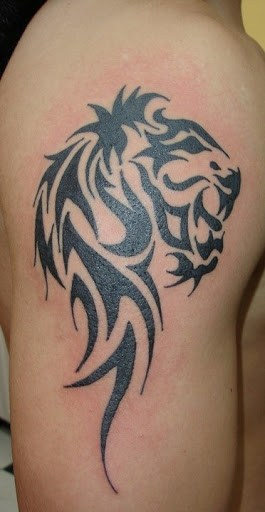 Fantastic lion taoo on arm designs
