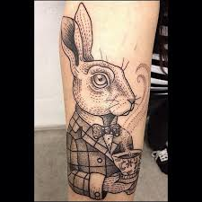 Lovely 3d rabbit tattoo on arm