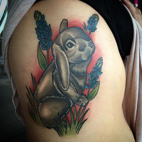 Lovely rabbit tattoio ideas on arm