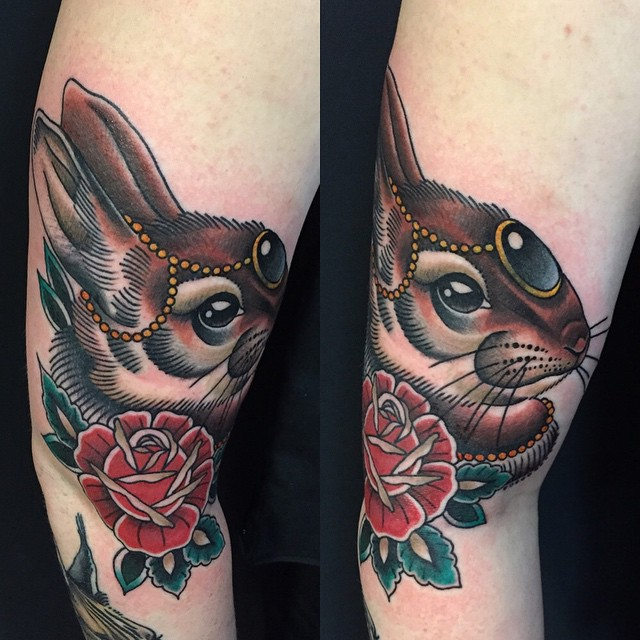 Popular rabbit tattoo design diary