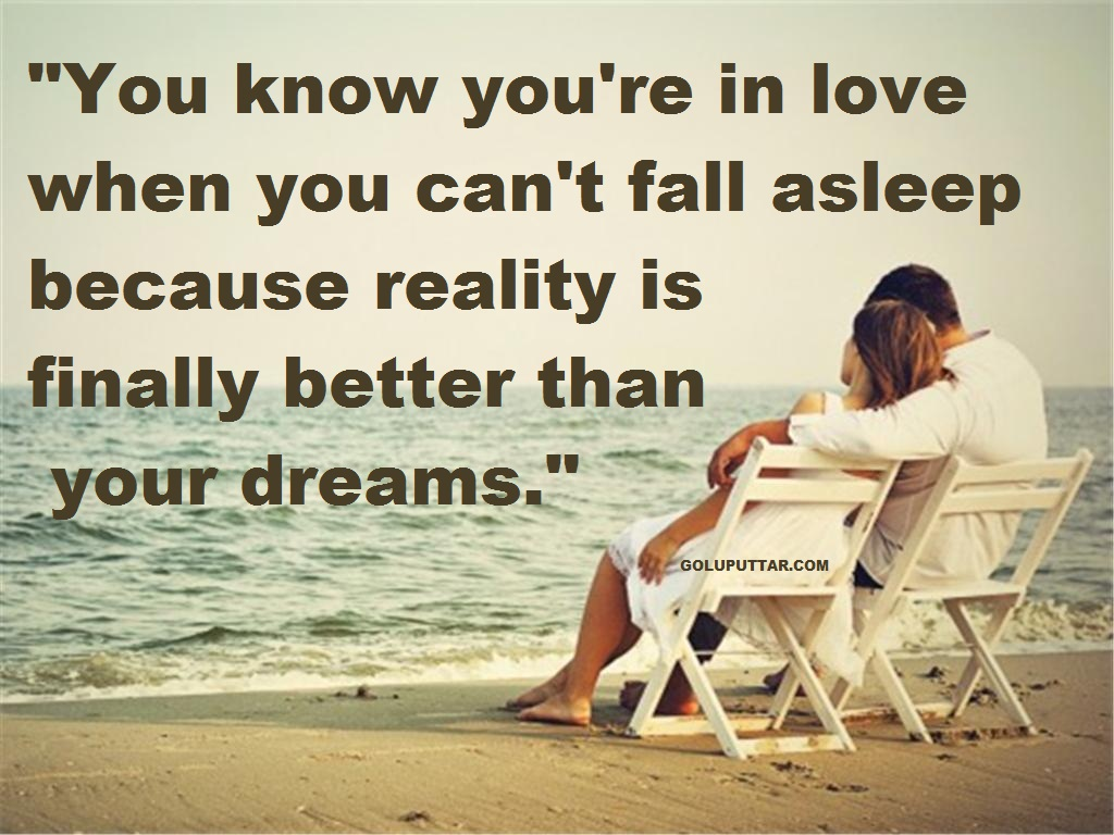 Reality of love romance quotes and sayings