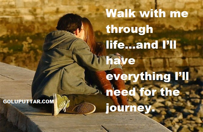 Romatic love journey quotes for wife