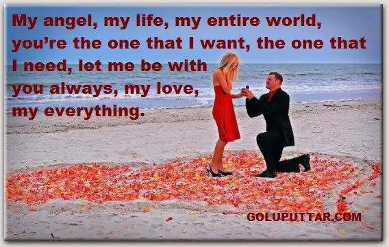 Romatic love quotes for your love angel