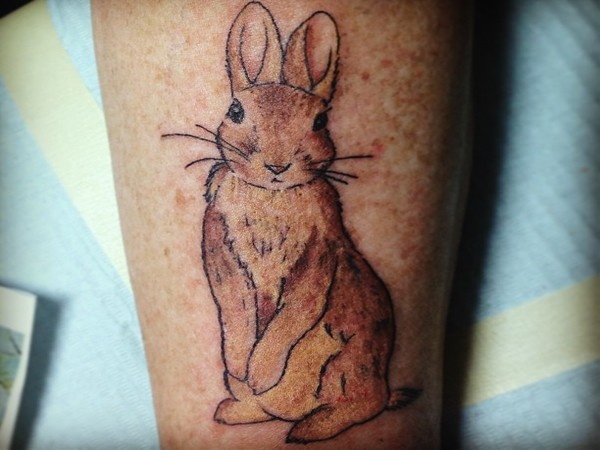 Small-Grey-Rabbit-Tattoo-OnBiceps-2