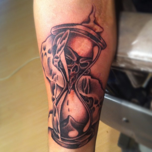Stunning hourglass tattoo cool colorful idea designs